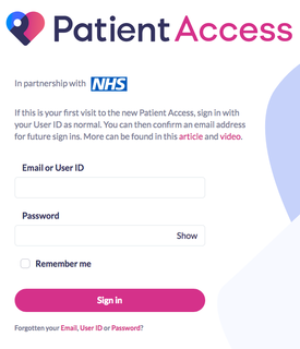 Book Appointments, Order Repeat Medication, Update your Contact Details and View Your Medicval Record Summary using Patient Access